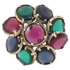 Trifari Renaissance Collection Jewel Tones Pin/Pendant