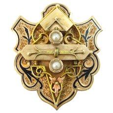 Victorian Large 14k Gold Necklace/Bracelet Slide