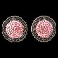 Richard Kerr Fabulous Pink Rhinestone Earrings
