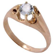 Aquamarine 14k Rose Gold Ring