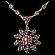 Bohemian Garnet Glass Pendant