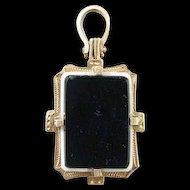 Victorian 14k Gold Hard Stone Cameo Double Sided Locket Fob/Charm/Pendant