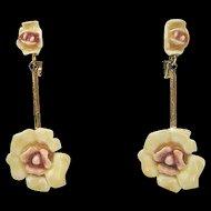 Enamel Flower Earrings by Har