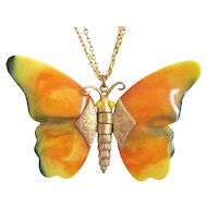 Large Beautiful Butterfly Pendant/Necklace
