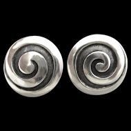 Los Castillo Sterling Silver Taxco Mexico Earrings