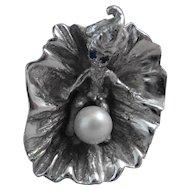Vintage Sterling Blossom Child Ring