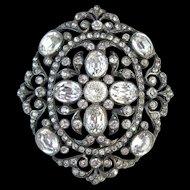 French Paste Silver Pendant/Pin