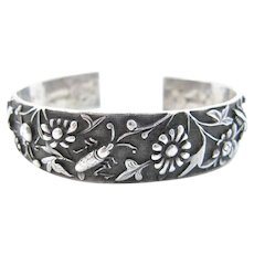 Chinese Silver Wedding/Marriage Bracelet with Stamps