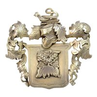 Mary Schimpff Mid-Century Gilt Sterling Silver Pin/Brooch
