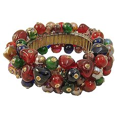 Colorful Glass Bead Cha Cha Bracelet