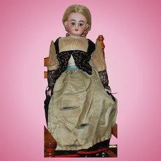 "12"" All Original Simon Halbig #1009 Doll Bisque Swivel Head, Cloth Body"