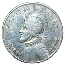 Panama Silver One Balboa Coin - 1934 - Red Tag Sale Item
