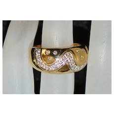 18K  Diamond and Gold  Fashion Ring - 1980's - Red Tag Sale Item