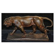 French Bronze of a Lion by Paul Philippe