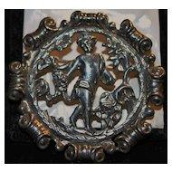 Italian Art Nouveau 800 Silver Brooch, c. 1900