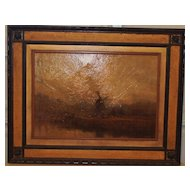 Large Dutch 18th Century Landscape Painting- Framed