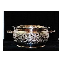 Pairpoint Two Handled Bowl