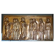 Large French Bronze Classical Plaque - F. Barbedienne