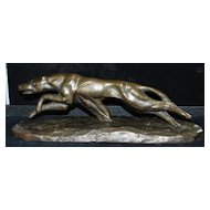 Art Deco Greyhound Sculpture, c. 1930