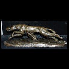 Art Deco Greyhound Sculpture, c. 1930