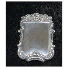 Art Nouveau Sterling Silver Match Safe