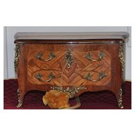 Miniature  Louis XIV Inlaid French  Commode Jewel box- 1900