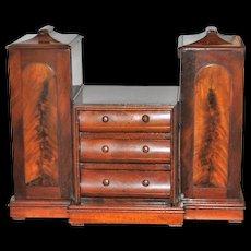 English Victorian Mahogany Tea Cabinet - circa 1860