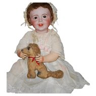 """24"""" SFBJ Bisque French Laughing Jumeau Baby Doll #236 with Composition Body"""