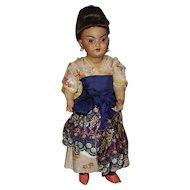 Simon Halbig #1099 Oriental Asian Bisque Doll, All Original