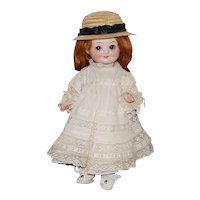 "10"" German Bisque Closed Mouth AM 323  Googly Doll"