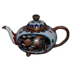 Miniature Japanese  Cloisonne Teapot