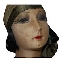 French, GERB Boudoir doll & Cloche Hat