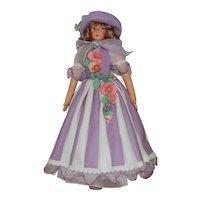 """23"""" Anili Felt Doll in Lavender Dress & Hat w/Original Tag"""
