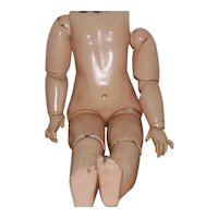 French Bebe Jumeau Jointed Composition Doll Body