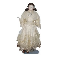 French Papier Mache Doll circa 1840  - All Original