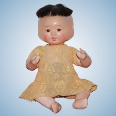 Three-faced Asian Baby circa 1900