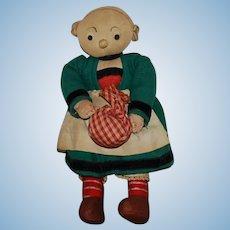 French All Original  BECASSINE Cloth Doll