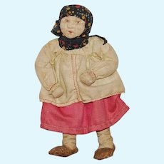 Russian Stockinette Cloth Doll w/ Original Label