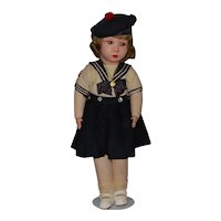 French Clelia Cloth Doll -  All Original