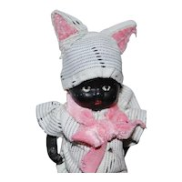 All Bisque Black Doll