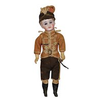 Bisque Solider Doll Original Box & Clothes