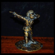 """French Miniature Bronze """"The Duelist"""",c.1870"""