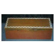 Heintz Arts& Crafts Sterling and Bronze Humidor,1912
