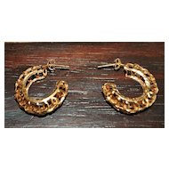 Pair of 14K Gold  Hoop Earrings -1980's