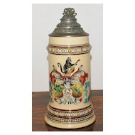 Merckelback & Wick 1/2L Character  Covered Stein