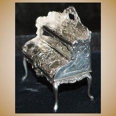 German 19th C Hanau 800 Silver Miniature Escritoire
