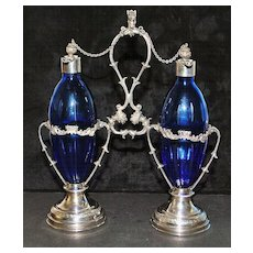Italian Florentine 800 Silver Perfume Stand, c. 1920