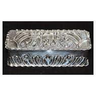 English Sterling Silver Table Snuff Box, c. 1901