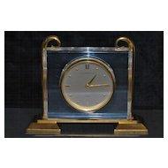 J. E. Caldwell & Co. Gild Brass Table Clock -1950's