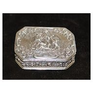 German Hanau 830 Silver Snuff Box, c. 1890